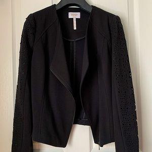 Laundry by Shelli Segal Black Lazercut Blazer US10